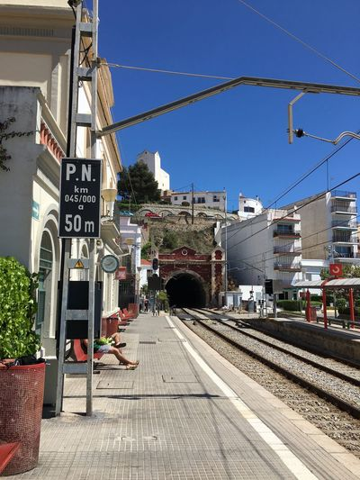 Mediterranean  Mediterranean Town Spanish Trains Train Station Platform Train To City Train Tunnel Tunnel And Station Waiting For Train