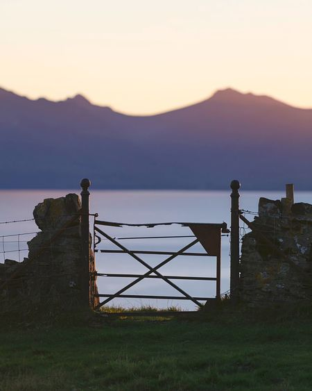 Mountain Clear Sky Water Scenics Tranquil Scene Beauty In Nature Field Remote Outdoors Sea New Beginnings Gate Gates Scotland Arran  Sky Scotlandsbeauty EyeEm Nature Lover The West Is The Best Countryside Coastal