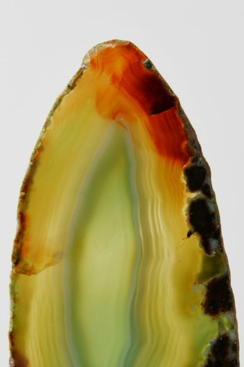 Close-up Freshness Gemstone  Indoors  Multi Colored Nature No People Single Object SLICE Studio Shot White Background Yellow