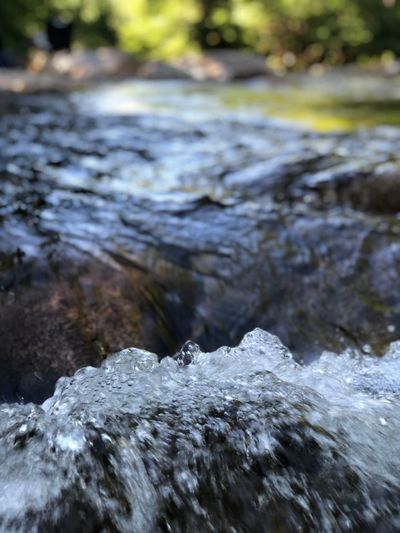 Bubbling brook Water Focus On Foreground Nature Day Rock No People Rock - Object Motion Beauty In Nature Splashing Flowing Water Outdoors Close-up Blurred Motion Flowing Tranquility Selective Focus
