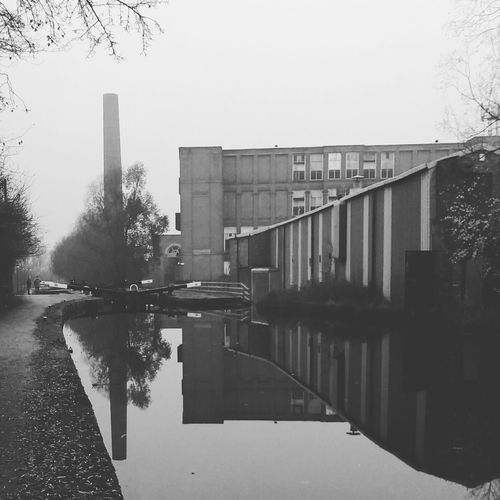 Marlborough Mill - Failsworth Reflections Reflections In The Water Industrial Building  Industrial Britain Cotton Mill Manchester UK Cottonmill Failsworth Manchester Blackandwhite Cityview Cityphotography Chimney CanalSide Canal Industrial Edwardian Cloudy Overcast Rochdalecanal Canal Water Reflection Architecture City Outdoors