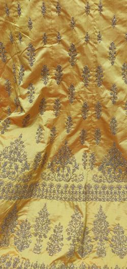 Backgrounds Full Frame Luxury Textile Yellow Pattern Textured  Smooth Rag