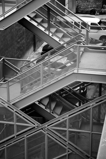 Built Structure Geometry No People Staircase Stairs To The High Line NYC