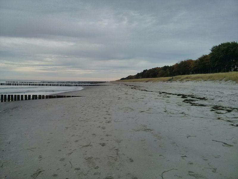 Bedeckter Himmel Strand