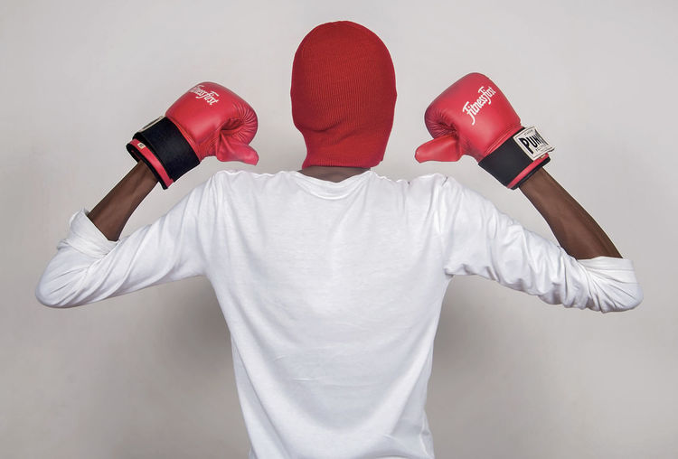 Mask - Disguise Boxing Boxing Glove Red White Studio Shot Champion Obscured Face Portrait Young Adult Man EyeEm Best Shots EyeEm Selects