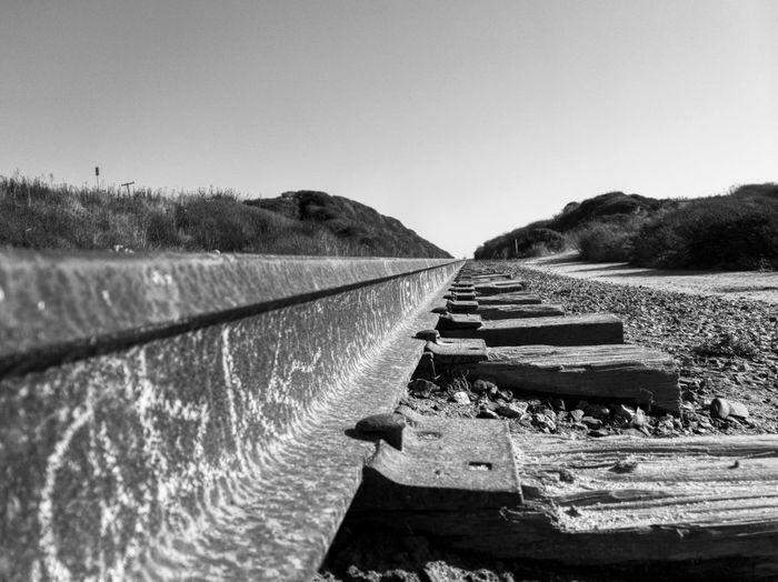 Train Tracks Bw