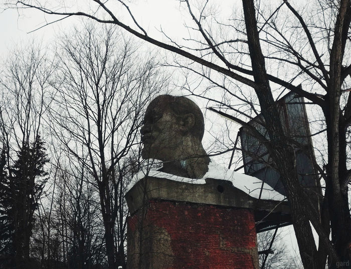 2018 Old Abandoned Outdoors No People Bare Tree Tree Russian Monument Russian Statue Lenin Monument Monument Lenin