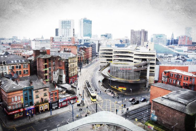 Check This Out Manchester View View From Above City Colorful Traffic Cars Cosmopolitan High Angle View