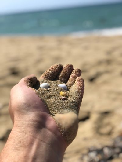 Sand in hand Land Beach Human Body Part Sand Human Hand Hand One Person Personal Perspective Body Part Focus On Foreground Water Sea Day Unrecognizable Person Real People Nature Close-up Lifestyles Finger Outdoors