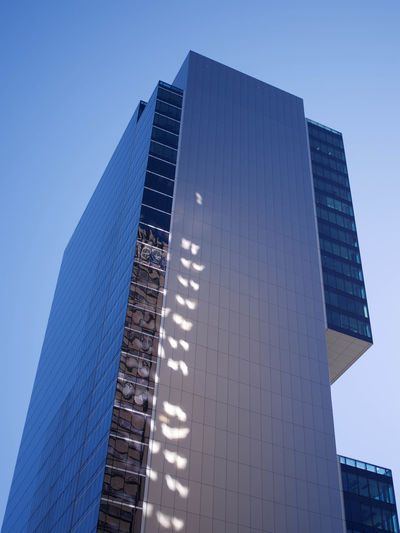 Architecture Blue Building Building Exterior Built Structure City Clear Sky Day Glass - Material Low Angle View Modern Nature No People Office Office Building Exterior Sky Skyscraper Sunlight Tall - High Tower