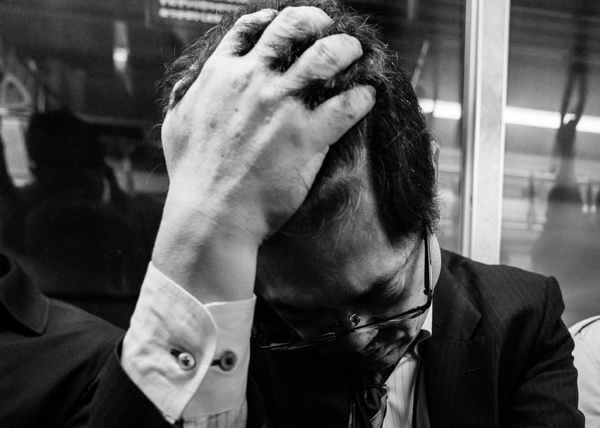 Stress Train Streetphotography Street Up Close Street Photography People Tokyo Street Photography Blackandwhite From My Point Of View Tokyo Street Life Japan Street Photography Working Hard Tired Black And White Photography Monochrome Popular Photos Streetphotography_bw
