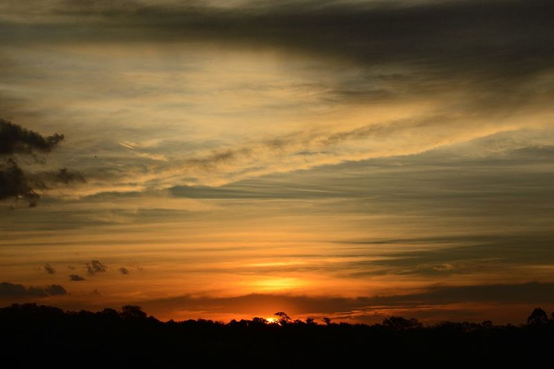 Sunset Silhouette Sky Nature Scenics Tranquil Scene Cloud - Sky Beauty In Nature No People Tranquility Outdoors