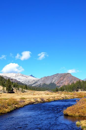 Beauty In Nature California Clear Sky Over Mountains Copy Space Countryside Flowing Water Inyo National Forest Mountain Mountain Range Non-urban Scene Outdoors Physical Geography Remote Sierra Nevada Mountains Solitude Tranquil Scene Tranquility Tuolumne River Finding New Frontiers