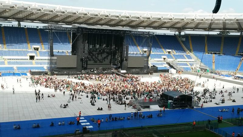 Waiting for Depeche Mode... Large Group Of People Stadium Depeche Mode Live Concert Music Brings Us Together