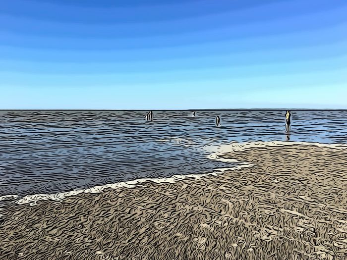 Die Flut kommt in der Bretagne Sky Blue Scenics - Nature Sea Water Beauty In Nature The Traveler - 2018 EyeEm Awards