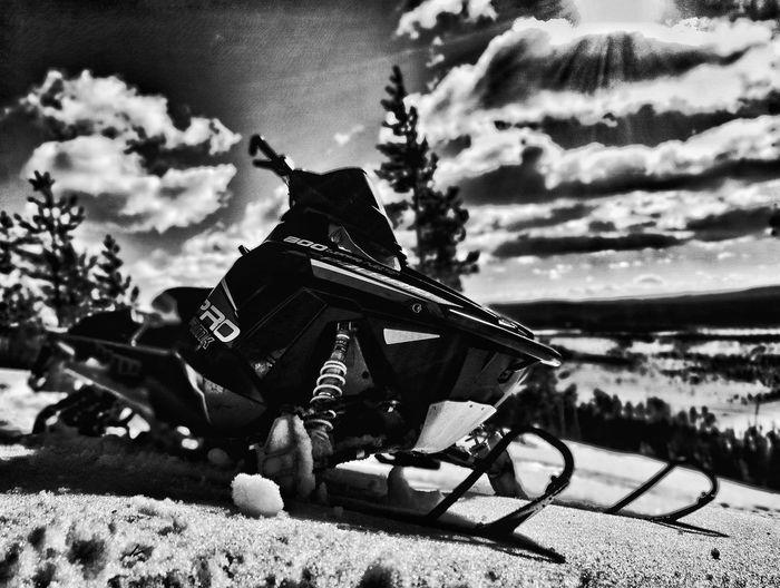 Snowmobile Riding Swedenlandscape Black Shadows & Lights Nature Outdoors Snowmobile Prormk Polaris Polarissnow Leisure Activity Adventure Snow Sweden Landscape Snowmobiling Beauty In Nature Snowscape Mountain Landscape Winter