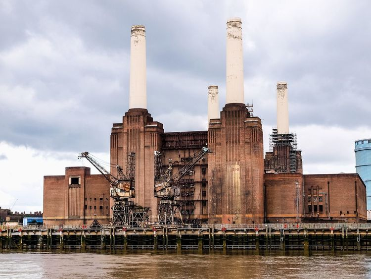 Battersea Power Station in London Animals Architecture Battersea Battersea Power Station Battersea Power Station Battersea Powerstation Batterseapowerstation Britain England London Outdoors Pink Floyd