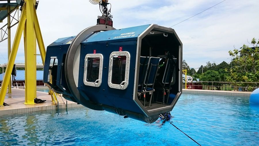 Helicopter sea survival training Helicopter Training Pool