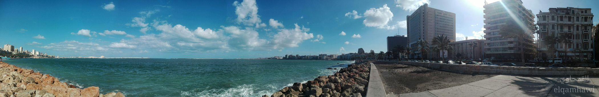 Panorama picture taken with mobile اسكندرية #alexandria Mobilephotography Mobile Phone Photography Egypt Alexandria Skyscraper Architecture Sky Cityscape Urban Skyline Water Cloud - Sky City Outdoors Building Exterior Panoramic Day No People Tree Nature