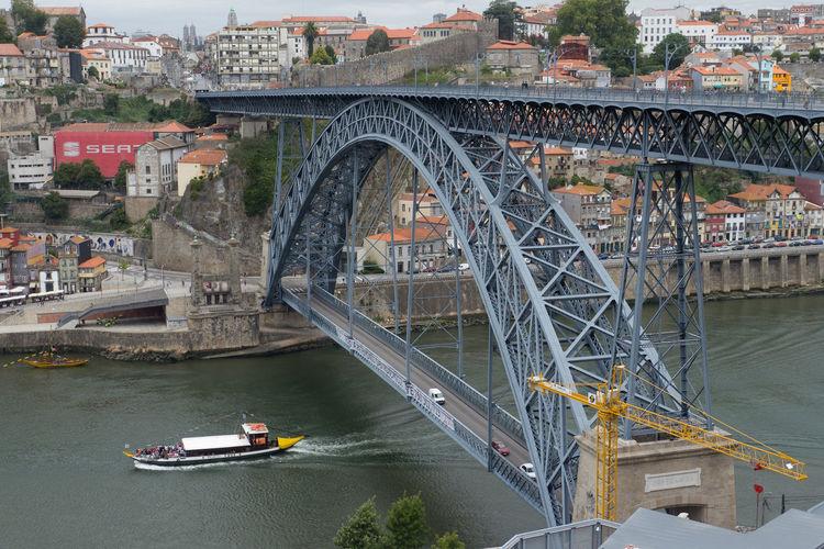 Bridge over Rio Douro in Porto. Bridge Bridge - Man Made Structure City Metallic Porto Portugal Rio Douro River Travel