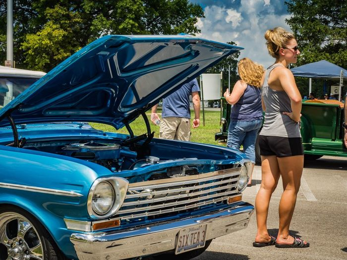 Danville Car Show Car Transportation Mode Of Transport Outdoors Day Young Adult Happiness Young Women Casual Clothing Standing