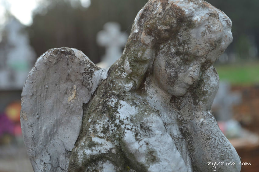 Astimegoesby Taking Pictures Hello World Old Cemetery Cemetery_shots Cemetery Deterioration Angels