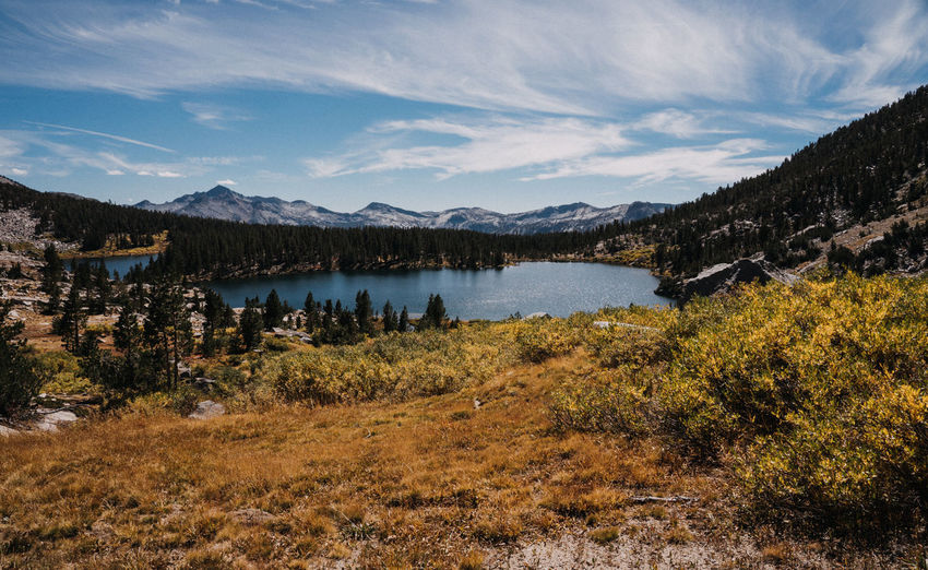 High Sierra John Muir Trail Pacific Crest Trail Sierra Nevada Mountains California Nature Lake Mountains Mountains And Sky Sky Mountain Scenics - Nature Tranquil Scene Cloud - Sky Beauty In Nature Water Tranquility Non-urban Scene Plant Tree Environment No People Mountain Range Idyllic Land Outdoors Day