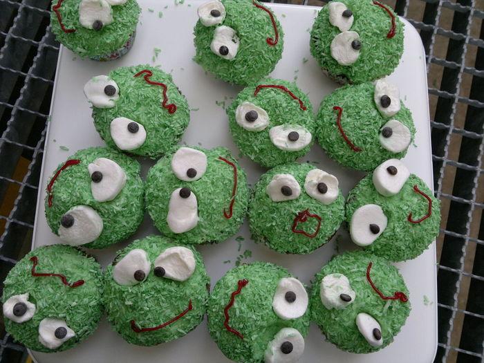 Cake Food Geburtstag Green Grün Monster Muffin Muffins