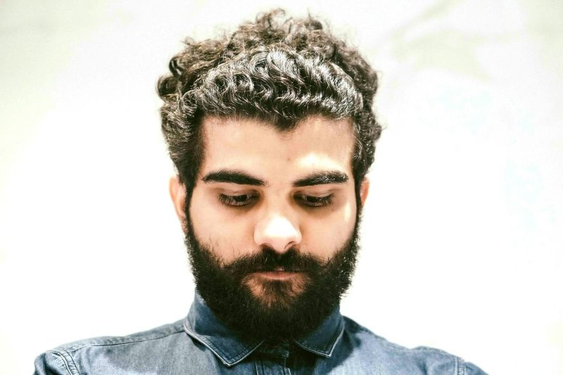 Button Up Beard Selfportrait Sony A6000 50mm F1.8 Curls Bearded Photographer Self Portrait Around The World