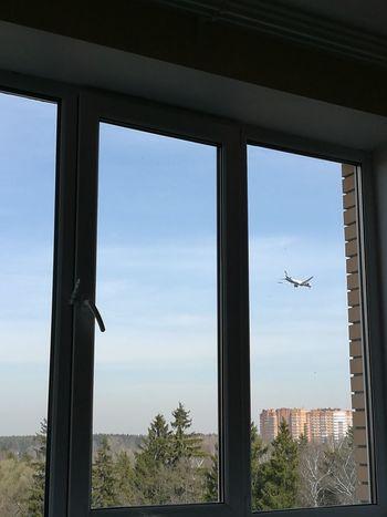 Window Looking Through Window Sky Day No People