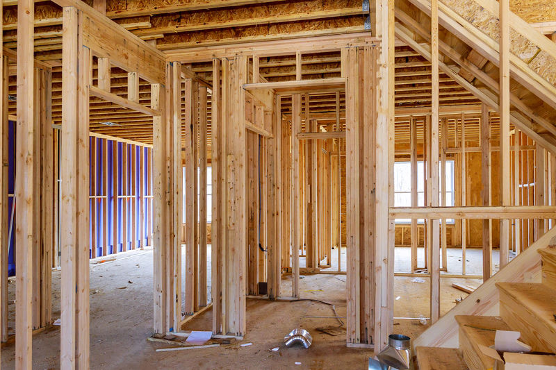 Interior of building under construction