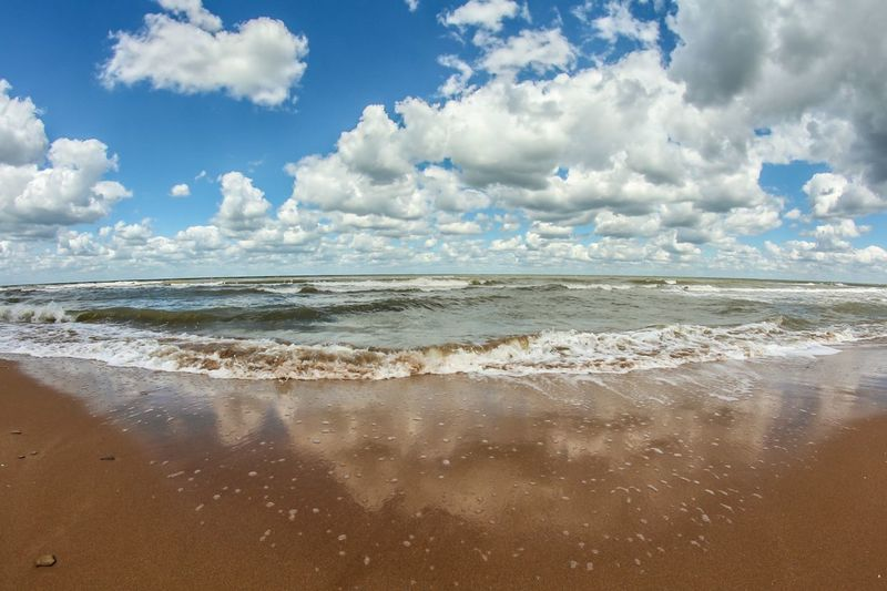 Sea Sky Beach Cloud - Sky Water Nature Relaxing Summer Horizon Over Water Sand Wave Waves Beautiful Nature Beachphotography Sky And Sea Sky And Clouds Seascape Waterscape Beach Photography Outdoors Relaxation Day
