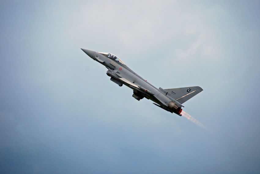 Air Vehicle Airforce Airplane Austrian Airforce Eurofighter Eurofighter Typhoon Flying Kampfflugzeug No People Transportation
