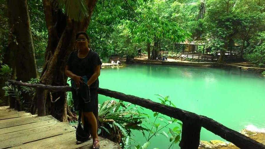 Than Bok Khorani National Park #journey #krabi #travel Casual Clothing Day Forest Front View Full Length Green Color Growth Leisure Activity Lifestyles Nature One Person Outdoors Plant Real People Standing Swimming Pool Tree Water Young Adult Young Men