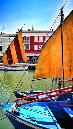 porto canale Cesenatico Colors Red Color Mare Spiaggia Sea And Sky Vele City Sky Boat Nautical Vessel Calm Canal Residential Structure Waterfront