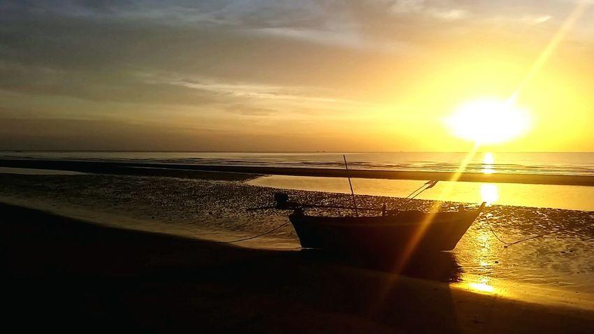 Morning Morning Sunrise Boat Sea And Sky