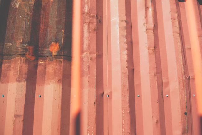 sea can / shipping container Construction Goods Shipping Containers Backgrounds Close-up Corrugated Iron Day Full Frame Metal Metal Container No People Outdoors Port Shippng Trade