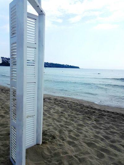 Door on the beach Door Sand Chill Water Sea Beach Sand Sky Horizon Over Water Architecture Cloud - Sky Calm Bay Of Water Seascape