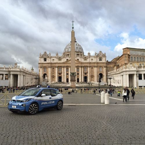 Architecture Building Exterior Built Structure Car City Cloud - Sky Day Europe HistoryTurkey Italy Land Vehicle Mode Of Transport Monument No People Outdoors Security Sky Transportation Travel Destinations Vatican Vatican City