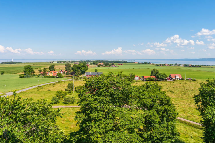View of a rural landscape on the island of visingso in sweden