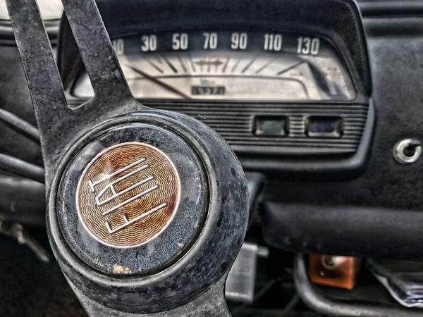 Car Transportation Mode Of Transport Vehicle Interior Land Vehicle Car Interior No People Close-up Metal Dashboard Vehicle Part Day Speedometer Gauge Indoors  Fiat Fiat500L Fiat500