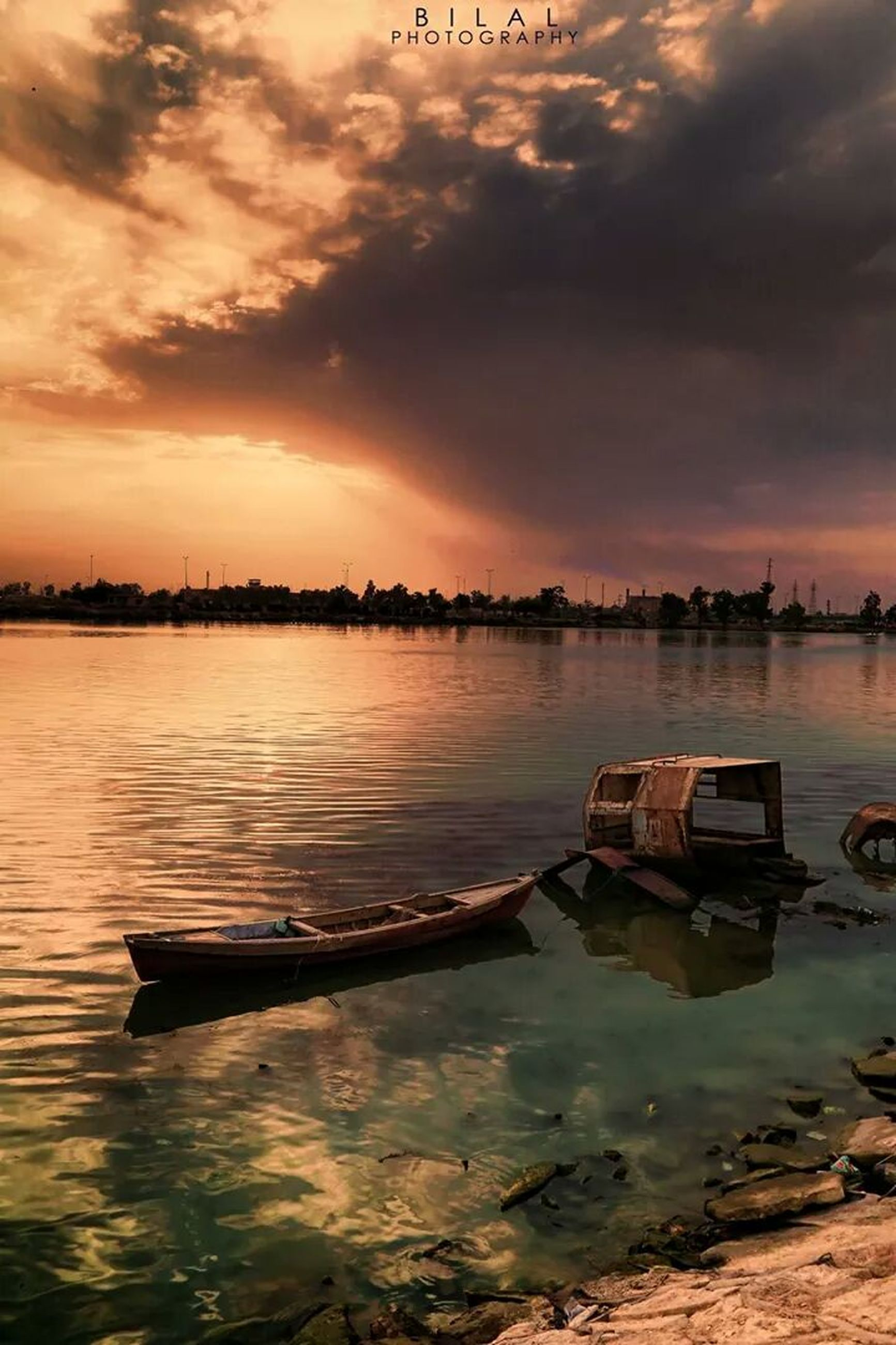 water, sky, cloud - sky, nautical vessel, sunset, boat, sea, moored, transportation, tranquility, waterfront, tranquil scene, cloudy, mode of transport, scenics, cloud, beauty in nature, reflection, nature, rippled