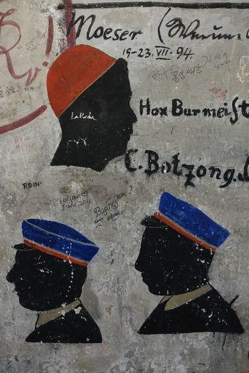 Innenaufnahme Man Made Structure Farbenfroh Old University Alte Universität Heidelberg GERMANY🇩🇪DEUTSCHERLAND@ Student Prison Studentenkarzer Ink Textured  Technology Communication Close-up