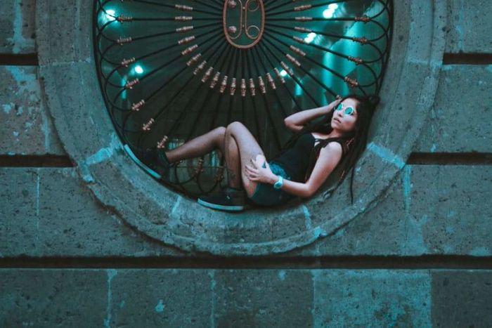 Dreadlocks Dreadlock Girl Portrait Downtown CDMX. Mexico City Mexico CanonMexicana 7D