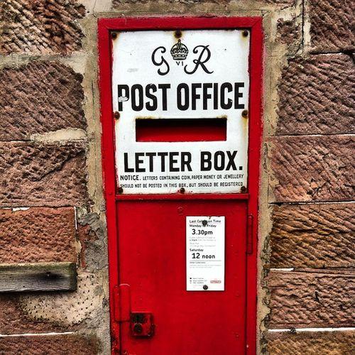 Old fashioned post box luss village