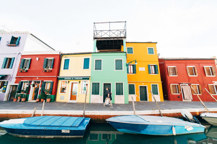 Red Venice, Italy Blue Boats Colourful Buildings JrichyPhotography Master Of Photography Master_shots rule of thirds Venice Waterfront Yellow Yellow Building