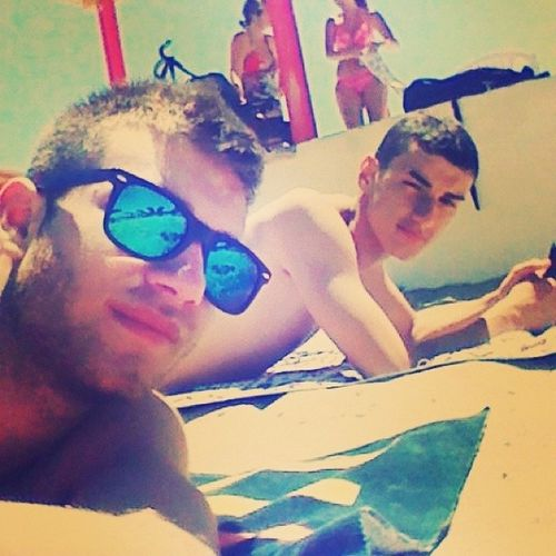 Myfriend Me Boys Summer2014 Starting Diplomato Sunshine Reagge Brindisi Instacare Likeitaly Tags4like Sunglasses Blue Granchiorosso F4F Retrica Beach Sea Hyperfashion