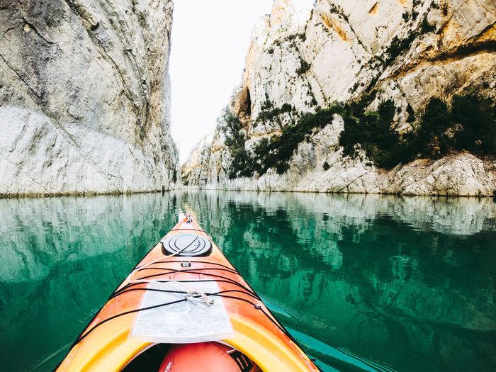 Canyon with canoe