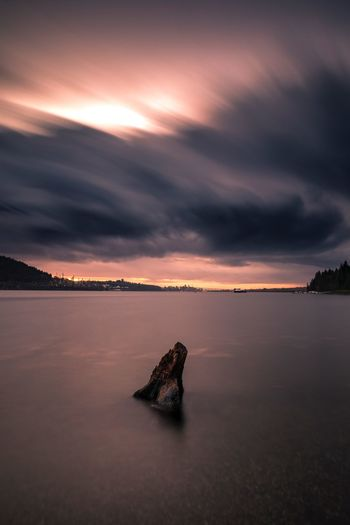 Gentle shot Ocean Land Vancouver Canada Long Exposure Sky Sea Cloud - Sky Water Sunset Beauty In Nature Scenics - Nature Tranquility Nature Beach Landscape Horizon Over Water Travel Destinations Land Tranquil Scene Dramatic Sky Cloudscape No People Solid Environment