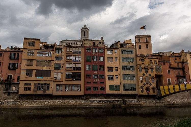 Architecture Catalonia Catalunya City Facades Girona SPAIN Streetview